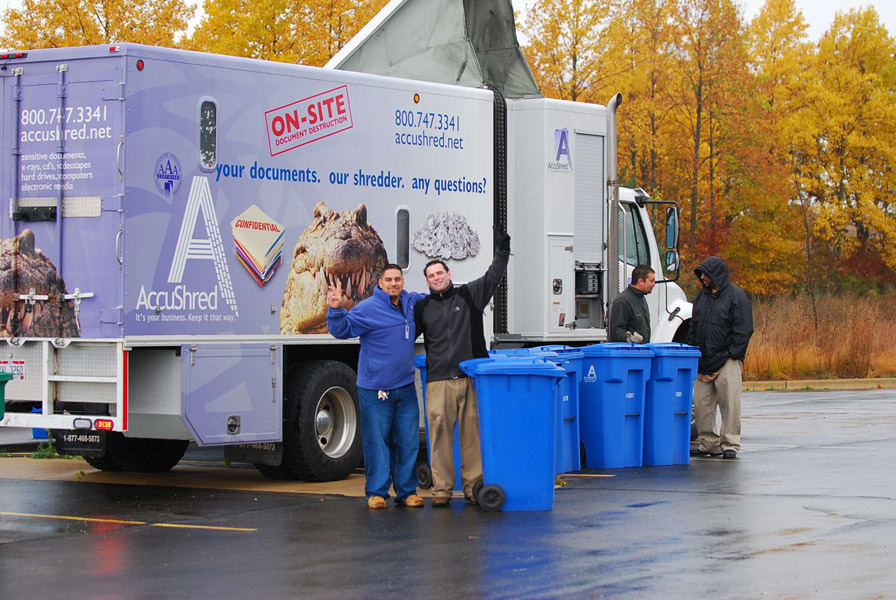 Community Shred Day in Ann Arbor.