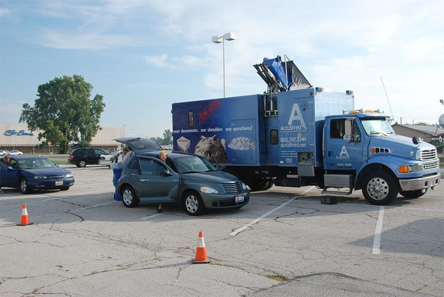 AccuShred partners with local communities to host Community Shred Days.