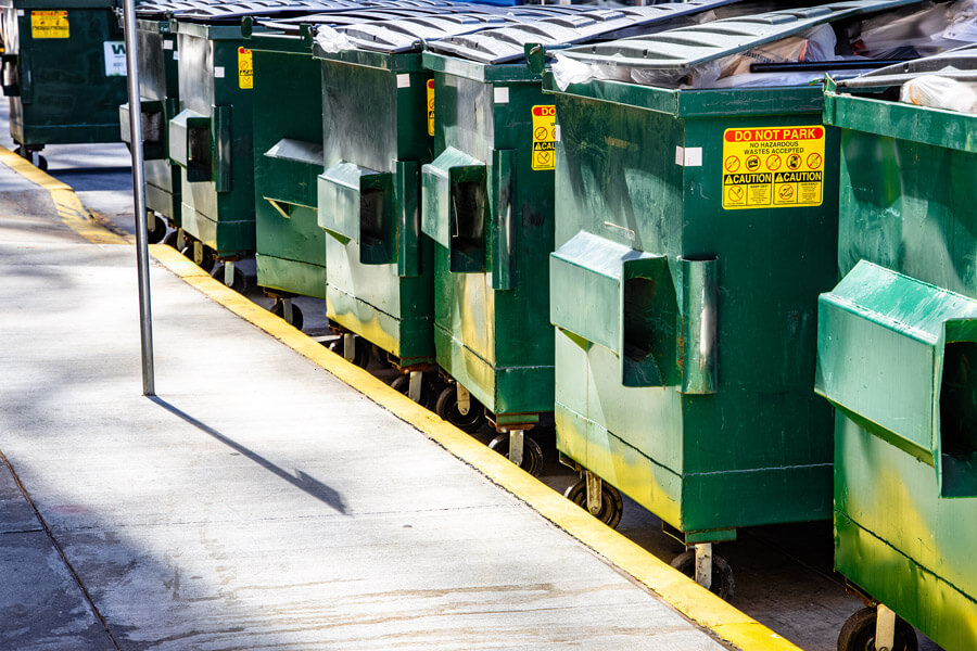 Corporate recycling dumpsters